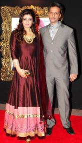 Raveena Tandan with Anil Thadani