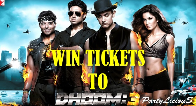 WIN Tickets To Watch DHOOM 3 at Super Cinema!