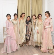 Nida Azwer with all the models [F]