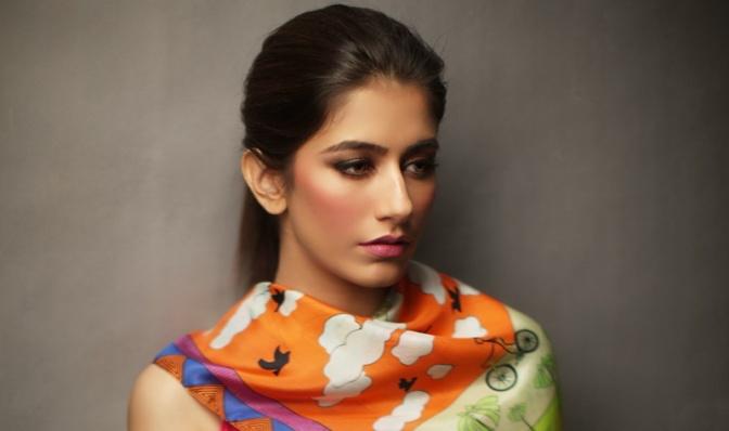 Syra Shahroz for Sania Maskatiya & Gul Ahmed Collaborative Scarf Collection