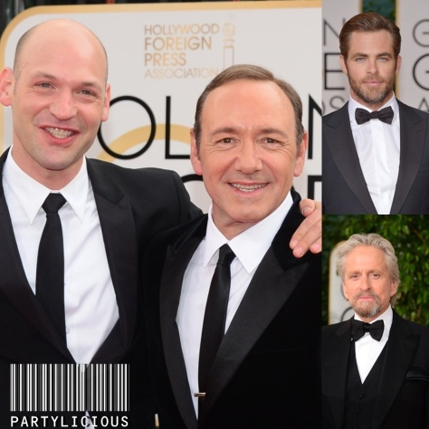 Corey Stoll with Kevin Spacey, Chris Pine and Michael Douglas