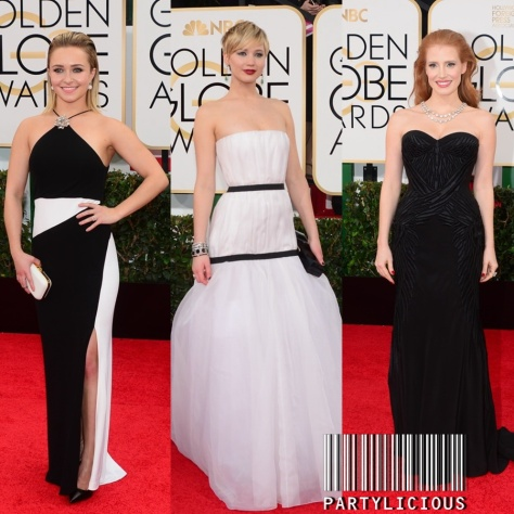 Hayden Panettiere, Jennifer Lawrence and Jessica Chastain