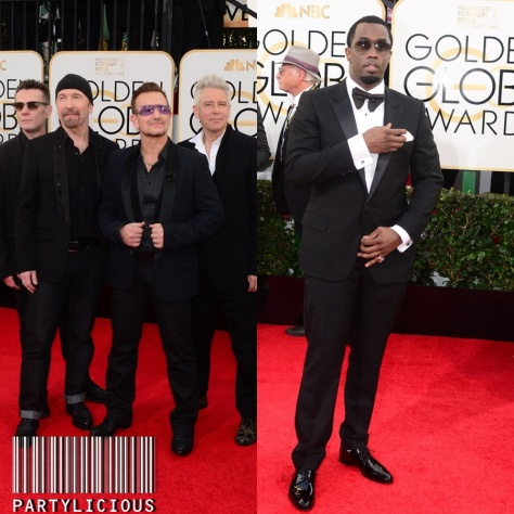 Irish rock band U2 and Sean Combs