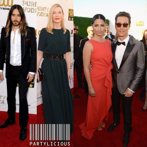 Jared Leto, Cate Blanchett and Camilia Alves with Matthew McConaughey