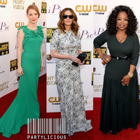 Jessica Chastain, Julia Roberts and Oprah Winfrey
