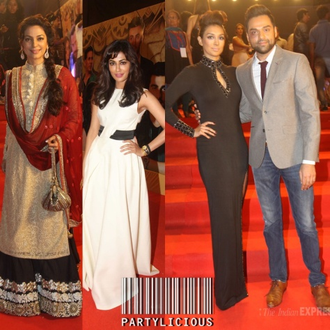 Juhi Chawla, Chitrangada Singh and Abhay Deol with girlfriend Preeti Desai