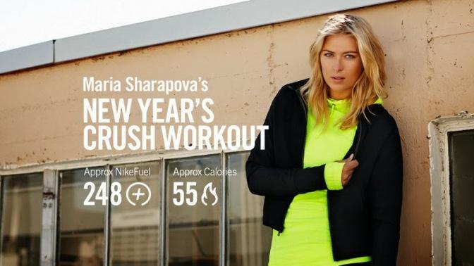 Maria Sharapova for Nike New Year Crush Campaign