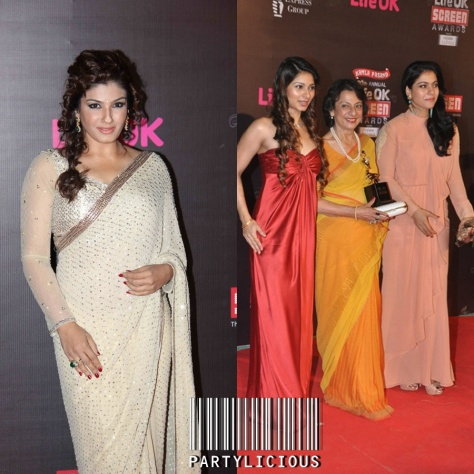 Raveena Tandon and Tanisha, Tanuja Mukherjee & Kajol