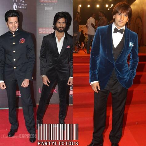 Riteish Deshmukh, Shahid Kapoor and Ranveer Singh