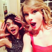 Taylor Swift & Sarah Hyland (@taylorswift, @therealsarahhyland)