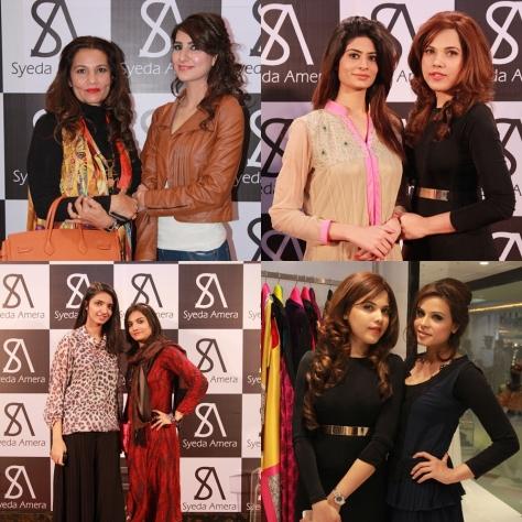 Frieha Altaf & Areeba, Madiha Iftekhar & Syeda Amera, Misbah & Alina, and Syeda Amera & Fozia