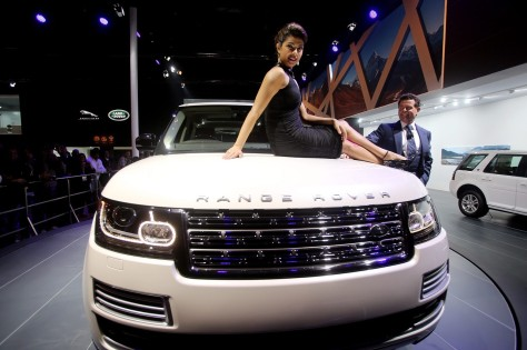 Priyanka Chopra posed with Jaguar Range Rover LWD