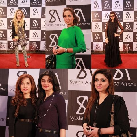Tina Ahmed, Rubab, Sana, Syeda Amera & Konain, and Perveen Gehri